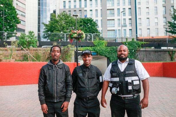Bristol Security Guards standing in front of a building